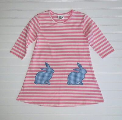 CLEARANCE - Girls Easter bunny pocket dress - 12 month