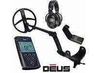 XP Deus metal detector Full set up inc 11 inch coil, Control Box and WS5 headphones. Metal detector