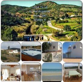 Villa to let in Algarve - Tavira sleeps up to 4 people