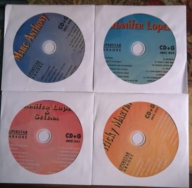 4 CDG DISCS SPANISH KARAOKE MARC ANTHONY,JENNIFER LOPEZ,RICKY MARTIN *2020 SALE*