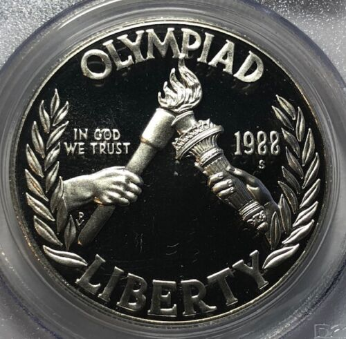 1988 S PCGS PR69 DCAM OLYMPIC ~ Silver Commemorative Proof Dollar $1