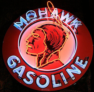 Mohawk Gas Neon Sign with Silkscreen Backing 5GSMOH w/ FREE Shipping
