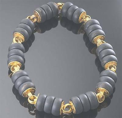 - ELIZABETH  GAGE  18K  ONYX   BEAD   NECKLACE