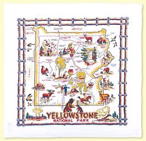 Retro-Vintage-Style-Cotton-Flour-Sack-50s-Kitchen-Towels-with-Yellowstone