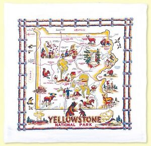 Retro-Vintage-Style-Cotton-Flour-Sack-50-039-s-Kitchen-Towels-with-034-Yellowstone-034