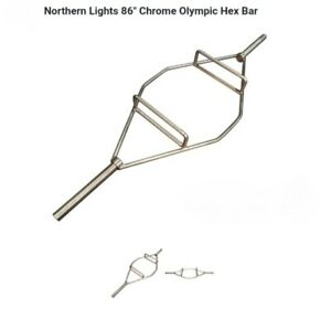 olympic hex bar chrome 86 inch weights 62 lbs $100