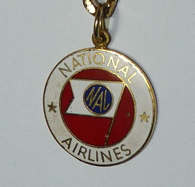 VINTAGE NATIONAL AIRLINES NA NAL KEY CHAIN FLAG LOGO b2
