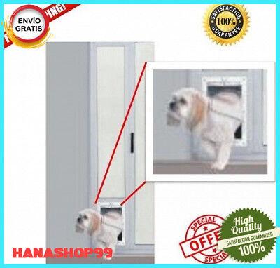Patio Panel Pet Door Dog Cat Sliding Glass Aluminum Large Flap Exterior Doggie