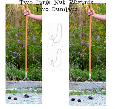 TWO Holt's Large Nut Wizard Black Walnuts Sweet Gum Balls Tennis Apples Fruits