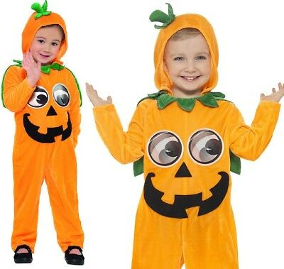 Bebé o Infantil Disfraz de Halloween Calabaza Todo en Uno Traje Smiffys