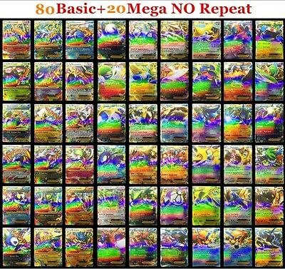 Pokemon TCG 100 CARD LOT RARE HOLO COM/UNC EX, MEGA OR FULL ART  GUARANTEED
