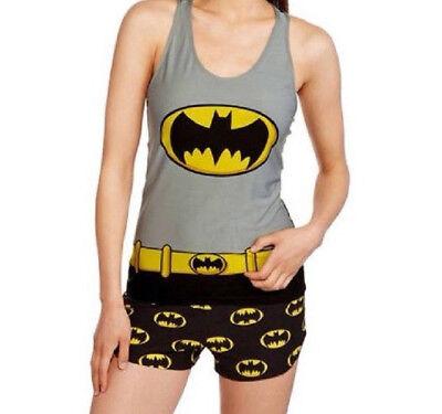 NEW WOMENS PLUS SIZE 3X 22W-24W BATMAN  EMBLEM TANK TOP  &  BOXER SHORTS SET ()