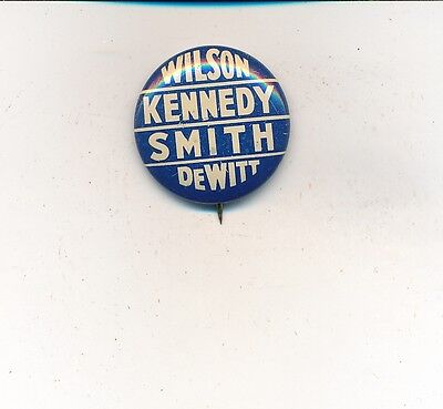 1938 Thomas Kennedy For Governor   Davis Wilson Us Senate Pennsylvania Button