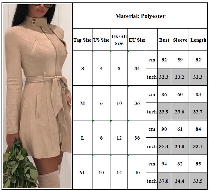 Women Long Jacket Slim Fit Jumper Mini