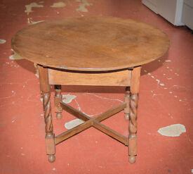 Early century barley legged coffee table