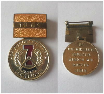 DDR Medaille 7-Jahrplan 1961 GDR East german excellent achievements (work) Medal