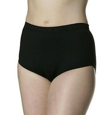 Danskin 2910 Women's Size XL Black Heavy Weight Cheer Trunk