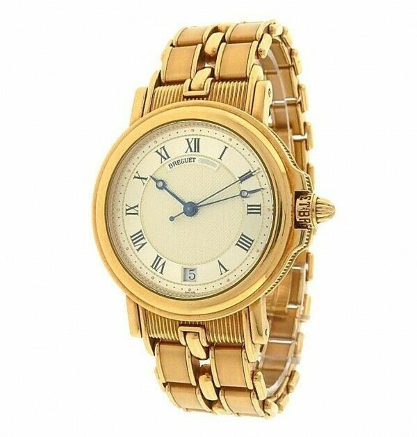 Breguet Marine Automatique with Authentic Box in 18K. Yellow Gold 33mm 149 grams - watch picture 1