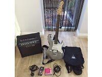 Yamaha pacifica guitar and line 6 spider iii amp complete setup