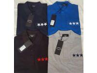 Men's designer polo and T shirts bundle ea7 Moncler stone island Ralph Lauren