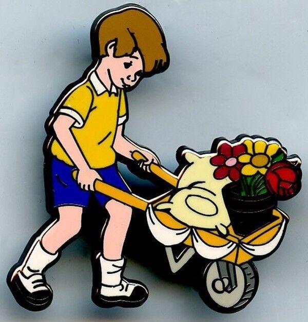 Willabee & Ward - Winnie the Pooh - Christopher Robin & Wheelbarrel Pin