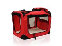 Robust Portable Pet Dog Carrier Crate Case XL RED — BRAND NEW