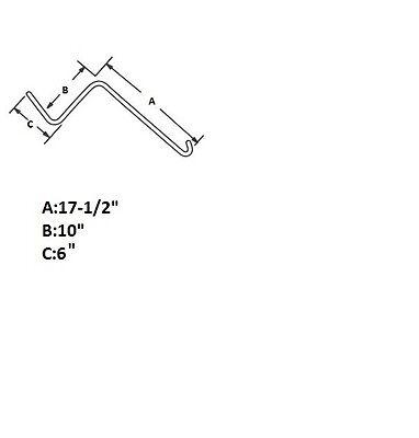 "30 Made IN USA Wheel Rake tines teeth .262"" Short 10"" Kuhn Vicon Tonutti JD"