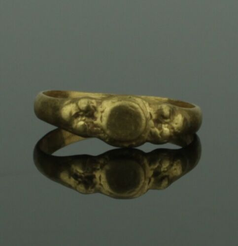 BEAUTIFUL ANCIENT MEDIEVAL GOLD RING  - CIRCA 15TH CENTURY   (889)