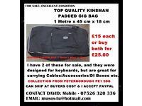 KINSMAN 1 x METRE LONG PADDED GIG BAGS (TWO AVAILABLE)