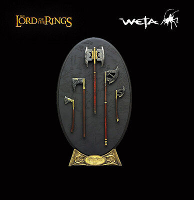 Sideshow Weta ARMS OF GIMLI Lord of the Rings LotR Hobbit Weapons Set Rare Seald