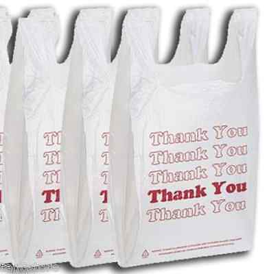 1000 T-shirt Carry Out Retail Store Plastic Bags Recycle Grocery Shopping Thank