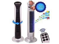 """Homefront 34"""" 2 in 1 Remote Control Tower Fan + TIO2 Air Cleaner System - USED"""