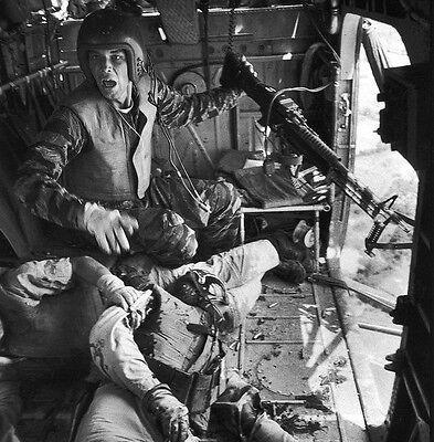 Vietnam War U.S. Army Door Gunner & Mortally Wounded On Board 8.5x11 Rare Photo