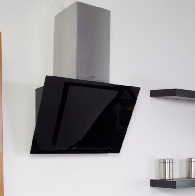 COOKE & LEWIS CLTHAL60-C BLACK STAINLESS STEEL COOKER HOOD, (W) 600MM
