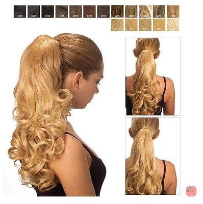 Extension INVISIBILE Pinza mollettone Coda MOSSA capelli sintetici Kanekalon Col
