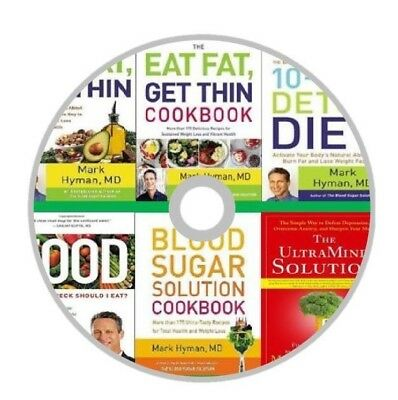 Mark Hyman Complete 8 Books Collection Eat Fat Get Thin Blood Sugar On a - Blood Fat