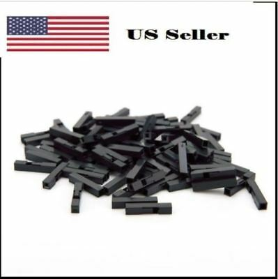 100pcs 1p Dupont Jumper Wire Cable Housing Female Pin Connector 2.54 Mm Pitch