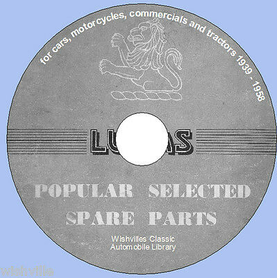 Lucas Popular Selected Spare Parts Information  DVD 1939 ~ 1958