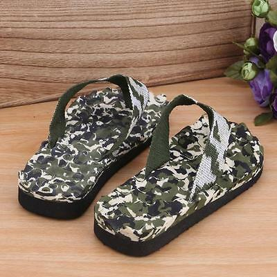 Mens Summer Camouflage Beach Flip Flops Shoes Sandals Slipper Indoor & Outdoor