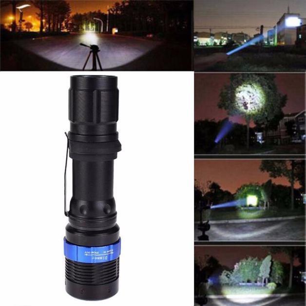 3000 Lumen Zoomable CREE XM-L Q5 LED Flashlight Torch Zoom Ultra Bright Light