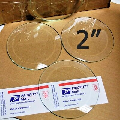 (10 Pack) of 2 inch CIRCLE Bevels Clear Glass Beveled on top + Flat on Back