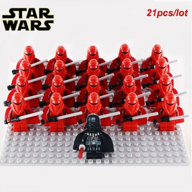 New 21pcs Lot STAR WARS Trooper Darth Vader Clone Printd Lego Minifigure Costum