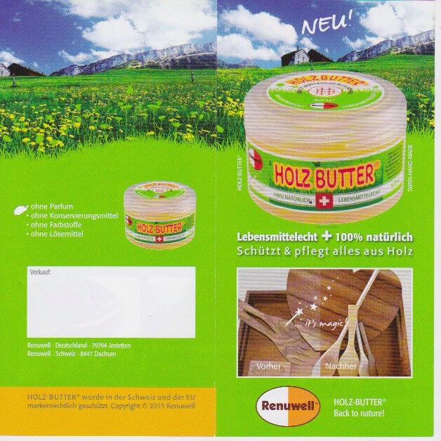 Holzbutter Renuwell Holzschutz Holzpflege  Naturprodukt Lebensmittelecht