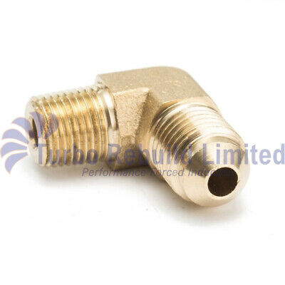 1/8 NPT to AN4 4 Forged 90 Degree Brass Fitting For Turbo Oil Brake Adapter