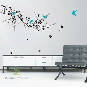 Luxury-Birds-and-Tree-Wall-Art-Stickers-Flower-Tree-Wall-Decal-Stickers-PD156