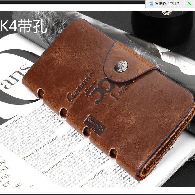 Men's Leather Wallet Bifold ID Card Holder Checkbook Long Clutch Billfold Purse 2