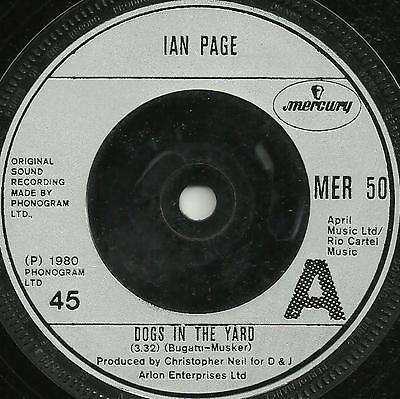 IAN PAGE - DOGS IN THE YARD / SPANISH WAITER - 1980 - ORIGINAL 80s ROCK BALLAD