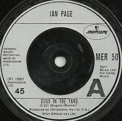 IAN PAGE - DOGS IN THE YARD / SPANISH WAITER - 1980 - ORIGINAL 80s ROCK BALLAD