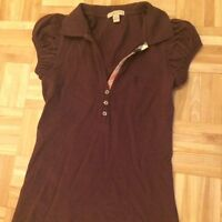 2 TOPS FOR SALE BURBERRY LAUREN MOSHI SMALL GOOD CONDITION