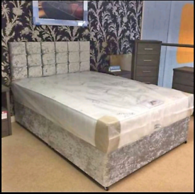 🌀Brand New Crushed Velvet Beds and Mattresses. Available seperatley o